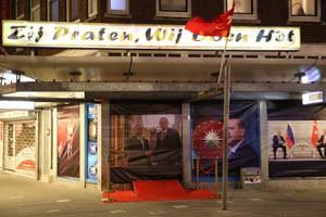 Erdogan-posters in Rotterdam