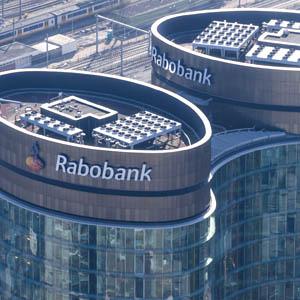 De banken vanuit de lucht