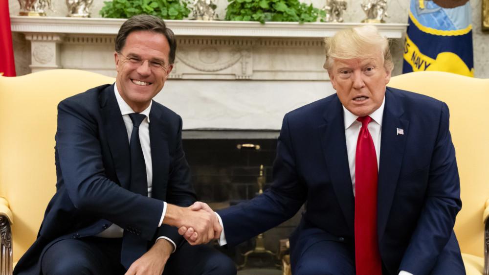 Rutte ontmoet Trump in Oval Office