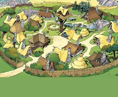 Dorp Asterix en Obelix