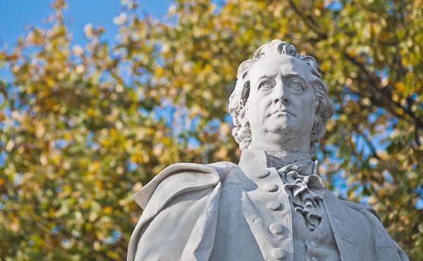 Statue of Johann Wolfgang von Goethe at Berlin, Germany