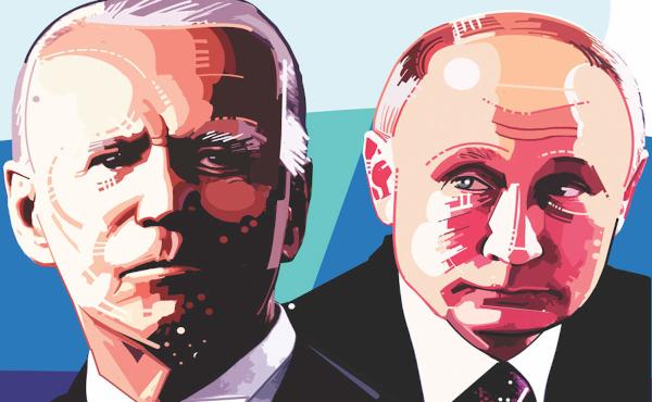 Joe Biden en Vladimir Poetin