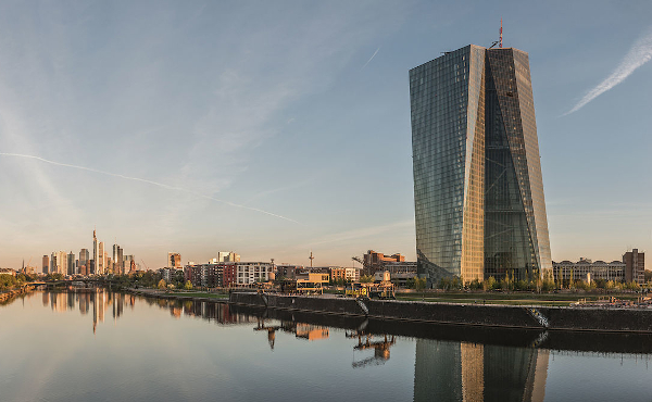 De Europese Centrale Bank in Frankfurt