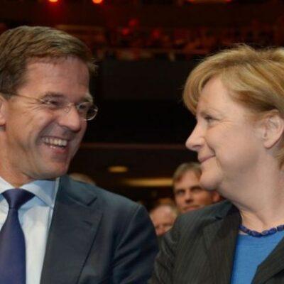 Rutte en Merkel