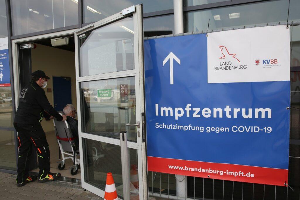 Vaccinatiecentrum in Duitsland.